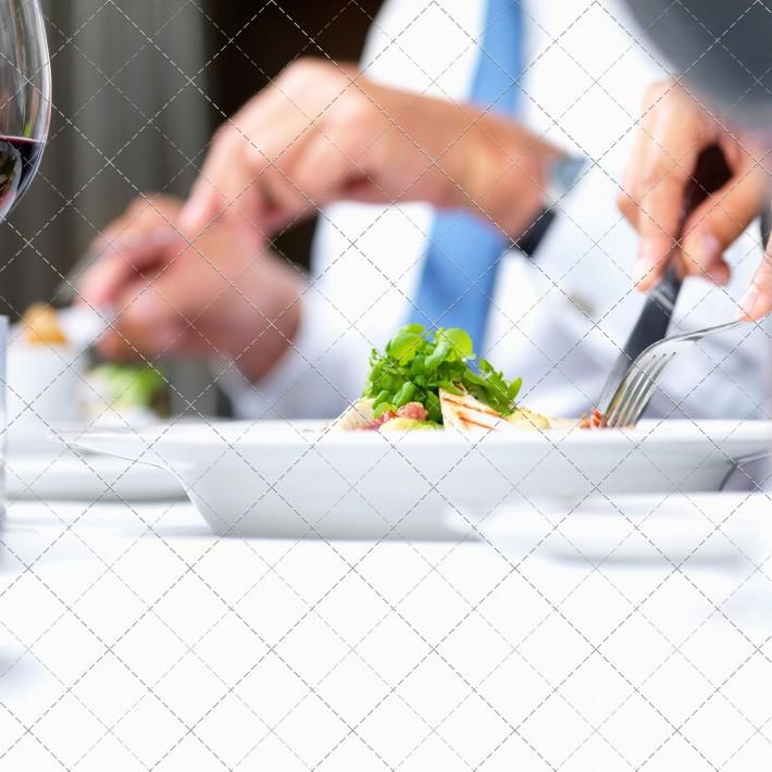 Closeup macro of food being eaten