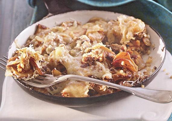 Грибы запеченые под сырной корочкой